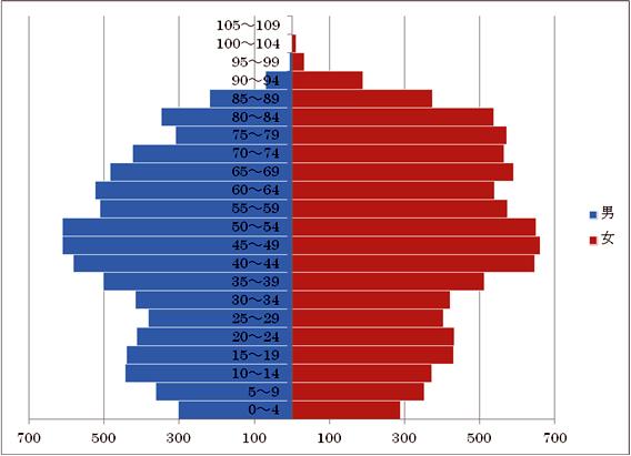 年齢別人口比イメージ